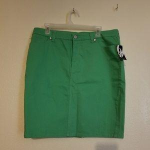 Nine West Green Denim Skirt